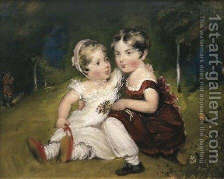 Children in a Wood by Benjamin Duterrau - Reproduction Oil Painting