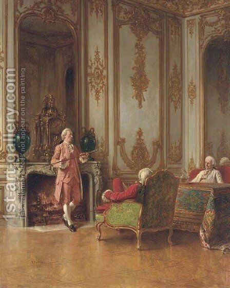Holding Forth by Benjamin Eugene Fichel - Reproduction Oil Painting