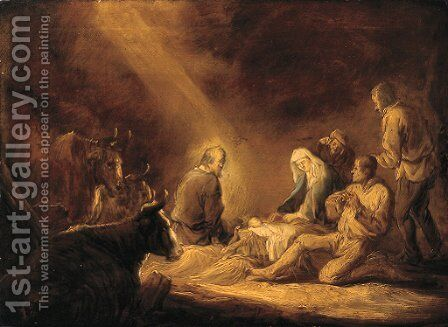The Adoration of the Shepherds by Benjamin Gerritsz. Cuyp - Reproduction Oil Painting