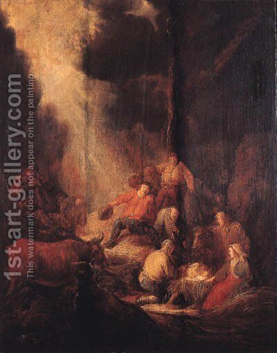 The Adoration of the Shepherds 2 by Benjamin Gerritsz. Cuyp - Reproduction Oil Painting