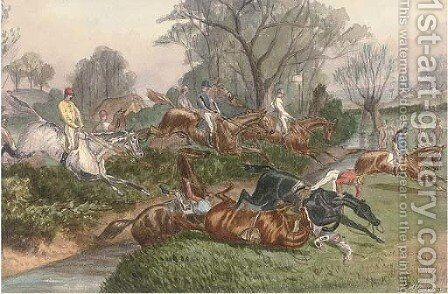 Over the ditch by Benjamin Herring, Jnr. - Reproduction Oil Painting