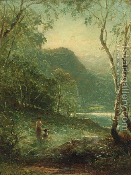 A Glimpse of the Lake by Benjamin Williams Leader - Reproduction Oil Painting