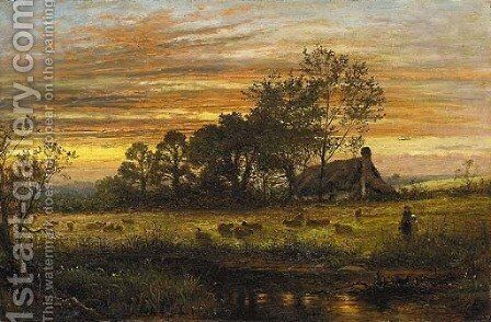 Evening by Benjamin Williams Leader - Reproduction Oil Painting