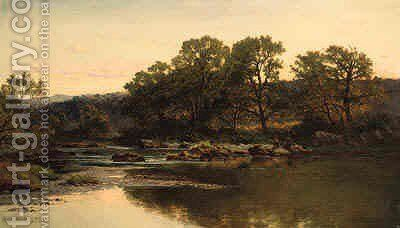 Evening, North Wales by Benjamin Williams Leader - Reproduction Oil Painting