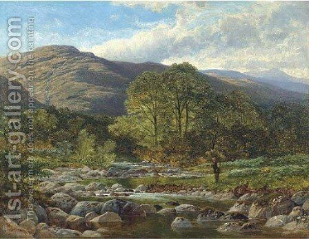 A stream from the hills 2 by Benjamin Williams Leader - Reproduction Oil Painting