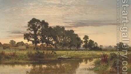 A Worcestershire Farm by Benjamin Williams Leader - Reproduction Oil Painting