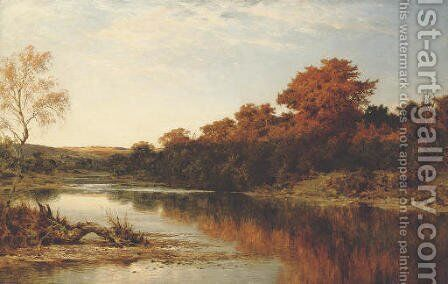 An Autumn Gleam by Benjamin Williams Leader - Reproduction Oil Painting