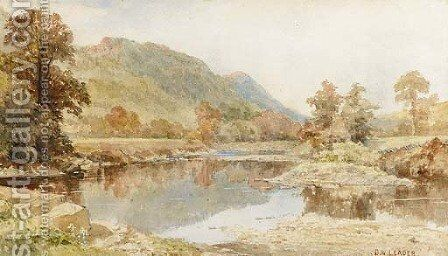Betws-y-Coed by Benjamin Williams Leader - Reproduction Oil Painting