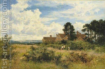 Burrows Cross, Shere, Surrey by Benjamin Williams Leader - Reproduction Oil Painting