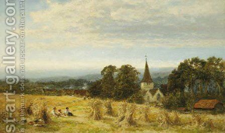 Harvest Time by Benjamin Williams Leader - Reproduction Oil Painting