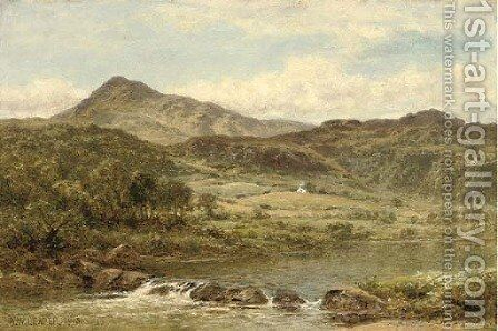 Moel Siabod from below Capel Curig by Benjamin Williams Leader - Reproduction Oil Painting