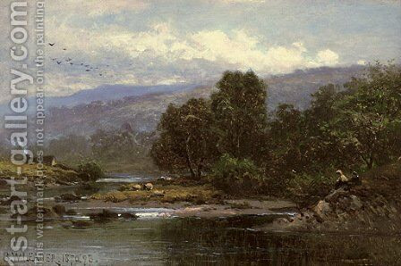 Near Capel Curig, North Wales by Benjamin Williams Leader - Reproduction Oil Painting