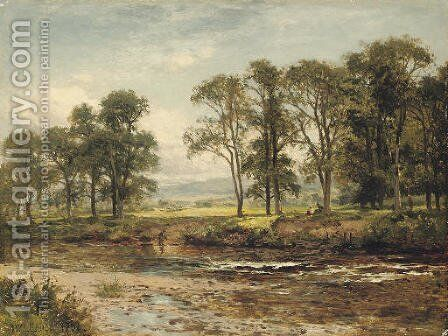 On the Conway near Betws-y-Coed by Benjamin Williams Leader - Reproduction Oil Painting