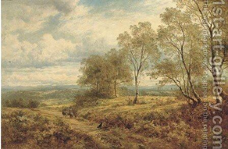 On the Welsh border by Benjamin Williams Leader - Reproduction Oil Painting