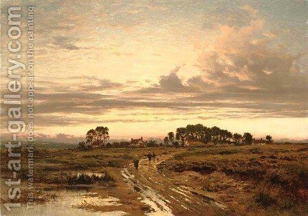 Stonehill Common, Worcestershire by Benjamin Williams Leader - Reproduction Oil Painting
