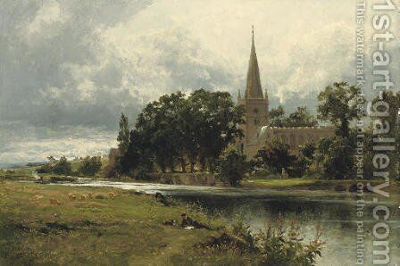 Stratford-on-Avon by Benjamin Williams Leader - Reproduction Oil Painting