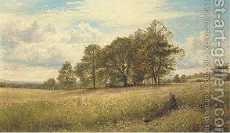 Summer Time Through the Hayfield, Worcestershire by Benjamin Williams Leader - Reproduction Oil Painting