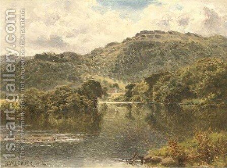 The Conway at Bettws-y-coed by Benjamin Williams Leader - Reproduction Oil Painting