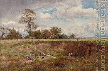 The gravel pit by Benjamin Williams Leader - Reproduction Oil Painting
