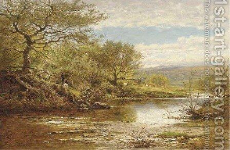 The Lluglwy, Autumn by Benjamin Williams Leader - Reproduction Oil Painting