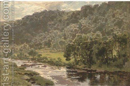 The Llugwy below Capel Curig by Benjamin Williams Leader - Reproduction Oil Painting