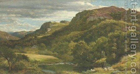 The River Llugwy, Bettws-y-Coed, North Wales by Benjamin Williams Leader - Reproduction Oil Painting