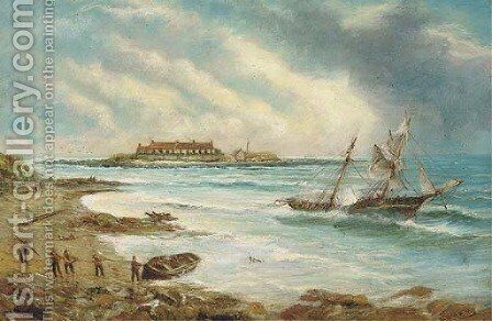 The shipwreck by Bernard Benedict Hemy - Reproduction Oil Painting