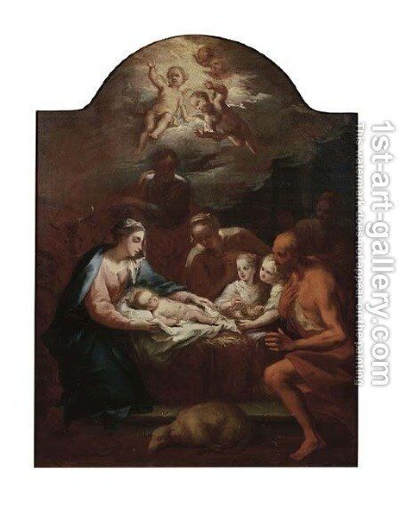 The Adoration of the Shepherds by Bernard Joseph Wampe - Reproduction Oil Painting