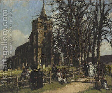 A wedding at Stebbing by Bernard Sickert - Reproduction Oil Painting