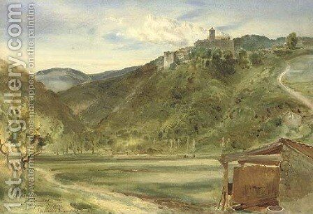Auribeau, near Cannes by Bernard Walter Evans - Reproduction Oil Painting