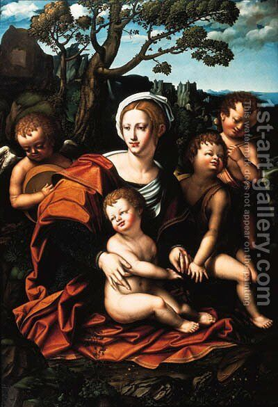 The Madonna and Child by Bernardino Marchiselli 'de Quagis' (Bernazzano) - Reproduction Oil Painting