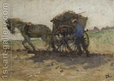 Shellfisher going home - a study by Bernardus Johannes Blommers - Reproduction Oil Painting