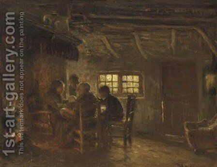 The Family Meal 2 by Bernardus Johannes Blommers - Reproduction Oil Painting