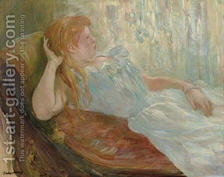 Jeune fille etendue by Berthe Morisot - Reproduction Oil Painting