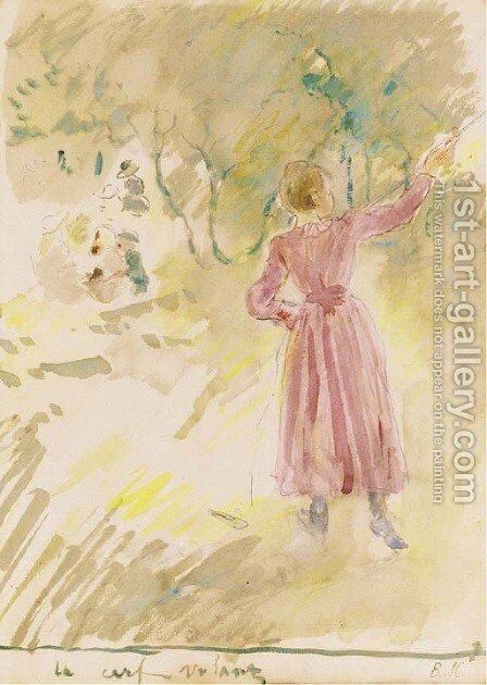 Le cerf-volant by Berthe Morisot - Reproduction Oil Painting