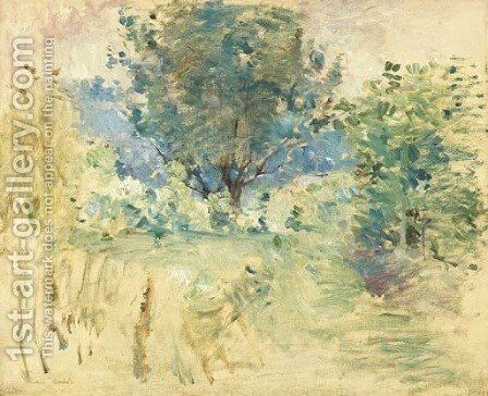 Paysage 2 by Berthe Morisot - Reproduction Oil Painting
