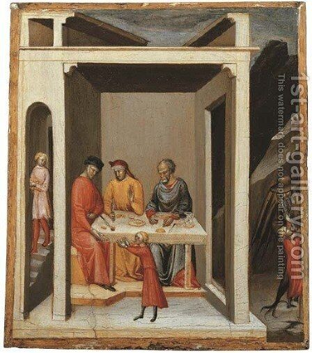 A Miracle of Saint Nicholas of Bari by Bicci Di Lorenzo - Reproduction Oil Painting