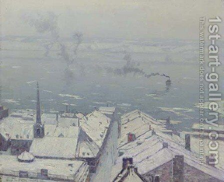 Lower Town, Quebec by Birge Harrison - Reproduction Oil Painting