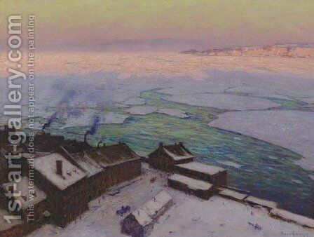 Sunrise, Quebec by Birge Harrison - Reproduction Oil Painting