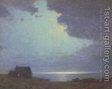 The Coast Guard's Hut by Birge Harrison - Reproduction Oil Painting