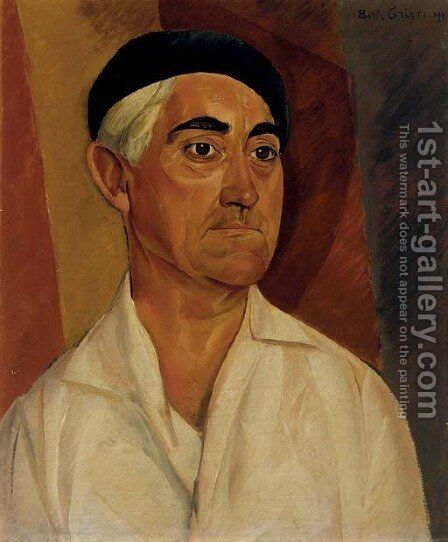 Portrait of a Man by Boris Dmitrievich Grigoriev - Reproduction Oil Painting