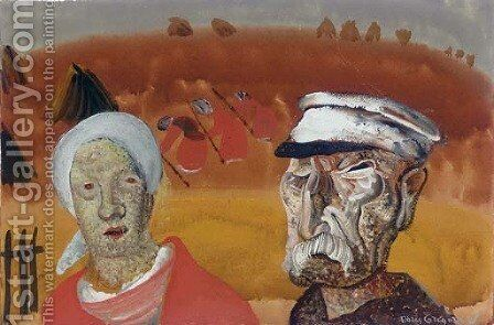 Workers in the fields by Boris Dmitrievich Grigoriev - Reproduction Oil Painting
