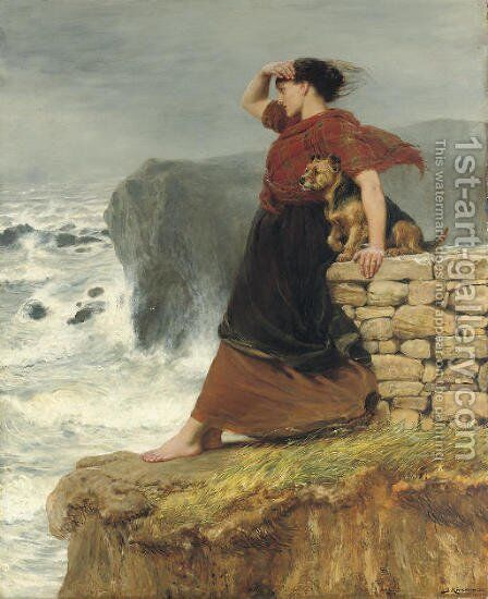 Hope Deferred by Briton Rivière - Reproduction Oil Painting