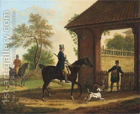 Returning from the day's shoot by Horace Vernet - Reproduction Oil Painting
