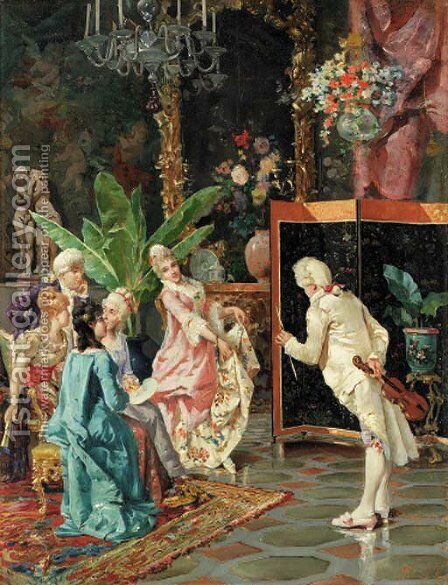 Elegant salutations by C. Filosini - Reproduction Oil Painting