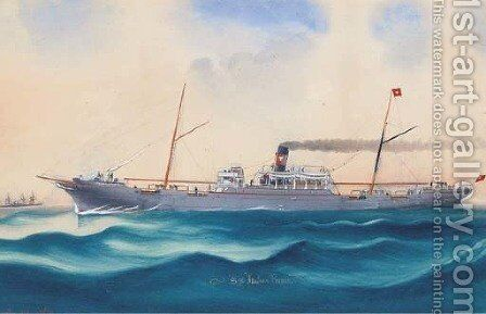 S.S. Italian Prince at sea by C. Kensington - Reproduction Oil Painting