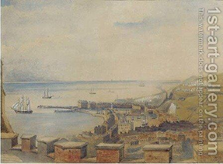 Dover from the battlements by C. Sullivan - Reproduction Oil Painting