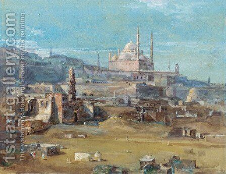A vista of Haghia Sophia by C.Verrusson - Reproduction Oil Painting