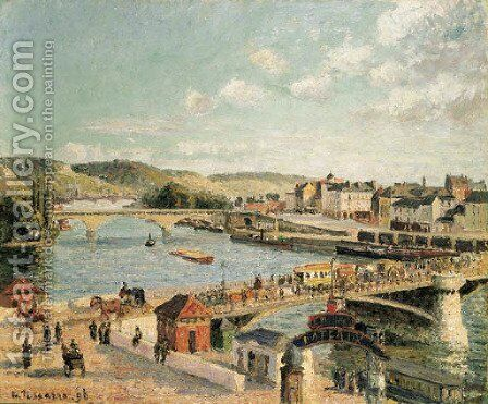 Apres-midi, soleil, Rouen by Camille Pissarro - Reproduction Oil Painting