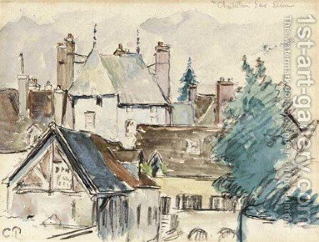 Chatillon-sur-Seine by Camille Pissarro - Reproduction Oil Painting